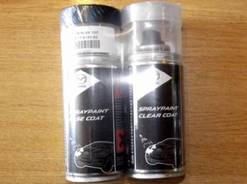 Paint spray kit, genuine Mazda, 32C, Phantom Blue